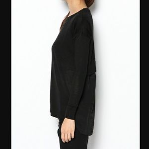 TOPSHOP Knitted Front Woven Back Sweater 6 M